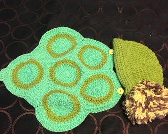 Turtle babe 2 piece crochet set