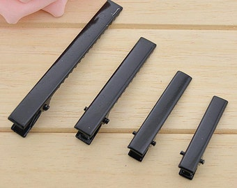 20 PCS Black flat top metal hair alligator clip (1-5)