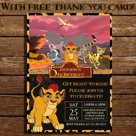 Lion King Invitation Cards for beautiful invitation layout