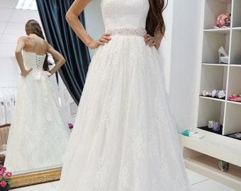 Paloma wedding dress,  lace wedding dress, romantic wedding dress