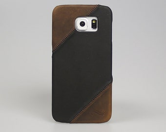 "Samsung S6  Leather Back Case Ultra Slim Anticcase ""Orion Cover"" Handmade Leather - OC-G1-G2-S6"