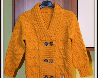Hand-knitted toddler cardigan/ MADE TO ORDER