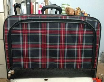 Vintage Plaid Luggage