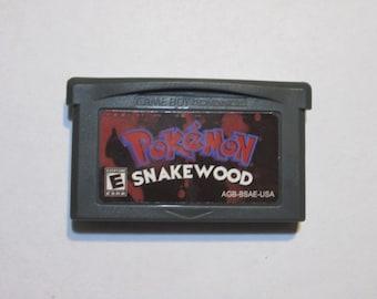 GBA Pokemon Snakewood fan made game cartridge Gameboy Advance hack