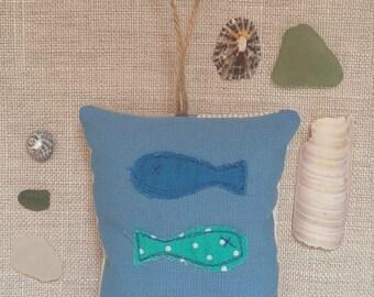 stitched fish lavender bag