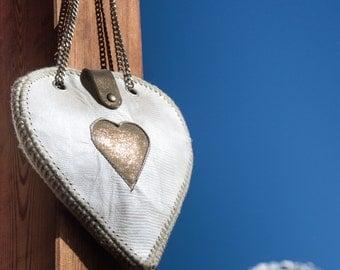 leather bag - heart bag - Alepiller design (022)