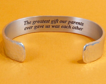 Sister Jewelry / Brother Jewelry - The greatest gift our parents ever gave us was each other - Sister Birthday Gift / Brother Birthday Gift