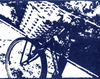 "Greetings Card- ""Cambridge Bicycle Blues"""