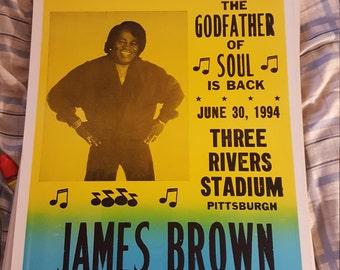James Brown  concert poster