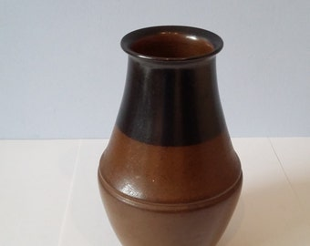 Brown and Black Vase Rainbow Pottery Co, Lindfield 1920/30/40s