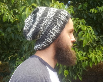 Black & White Men's Beanie
