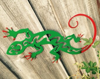 Gecko, Gecko sign, Home Decor wall gecko, lizard