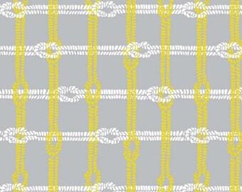 "Riley Blake designs - Maritime Modern  ""Knotty Plaid""  Gray  Cotton Fabric   BTY"