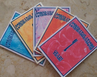 Sobriety Birthday, Recovery Anniversary Cards, Recovery Birthday Cards, 12 Step Cards, Sobriety Anniversary Card, Year Milestone, AA