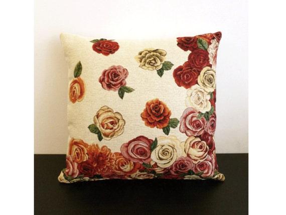 Copricuscino in gobelin con disegno floreale rosa per - Copricuscino per divano ...