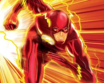 The Flash, Justice League, JLA, Speed Force, Animated, superhero, Art, Print