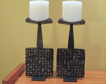 Mid Century/Brutalist candlesticks