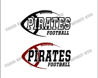 Pirates Side Football Download Files - SVG, DXF, EPS, Silhouette Studio, Vinyl Cut Files, Digital Cut Files -Use with Cricut and Silhouette