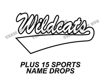 Wildcats Swoosh Download Files - SVG, DXF, EPS, Silhouette Studio, Vinyl Cutting Files, Digital Cut Files - Use with Cricut and Silhouette