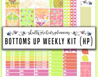 HAPPY PLANNER Printable Stickers - Bottoms Up Full Weekly Kit
