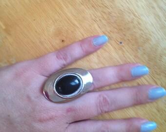 LARGE black onyx ring