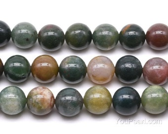 Fancy Jasper beads, 12mm round, Big Indian agate multi color natural stone wholesale, loose agate gemstone strand, beads supply, AGA2070