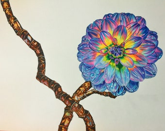 "Pipe Dream; Original Art, 19""x24"" on Acid-free Canson Bristol paper"