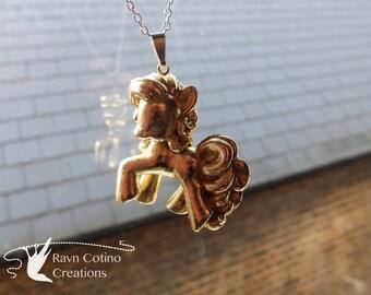Pinkie Pie My Little Pony Gold Necklace