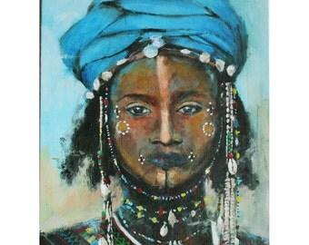 art, painting, acrylic painting, contemporary painting, portrait, original painting, ethnic