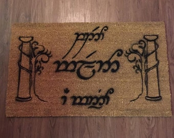 Speak Friend and Enter (Lord of The Rings) Inspired Decorative Doormat