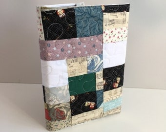 Notebook with patchwork and quilted cover