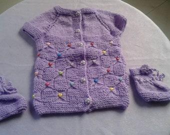 Hand Made Little Baby Vest,Booties New