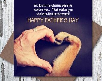 Happy Father's Day Card – Rescue Dog Dad, dog dad card