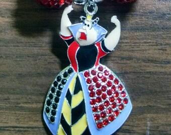 Queen of Hearts Toddler Bubblegum Necklace