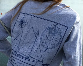 Points of Sail Print - Long Sleeve