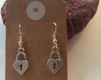 Tibetan Heart drop earrings hippy boho handmade jewellery