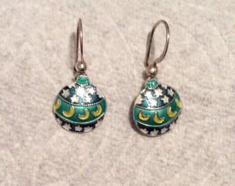 Sterling Silver Dangling Earrings
