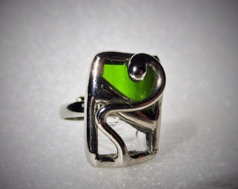 Stained glass Adjustable ring