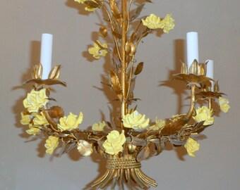 Antique style tole chandelier