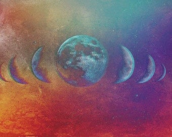 Mystical Moon Phase Digital Image Download