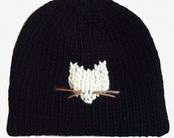 Knitting Pattern : Cat Burglar Beanie