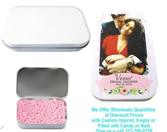 50 White Rectangular Tins  Empty Wedding Sweet 16 Party Event Favors