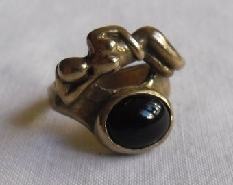 Ring Charles Jourdan gold plated Vintage