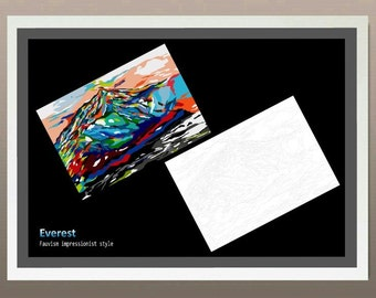 Everest- Fauvism impressionist style