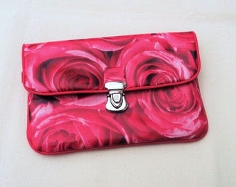 """Pouch coin purse / wallet with flap """"Roses"""""""