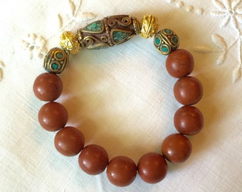 Rust Color Bead Bracelet