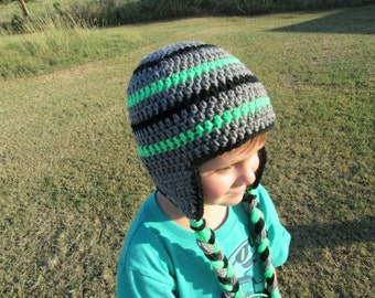 Crochet Boy Hat/Winter Hat/crochet Ear Flap Hat/Toddler Hat/Baby Boy Hat/Crochet Boys Hat/Crochet Boys Winter Hat/Crochet Kid's Hat