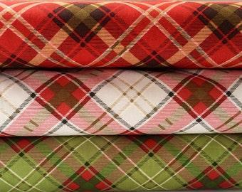 Bundle of Moose Lodge Plaid Cotton Fabrics by Henry Glass - 3 fabrics