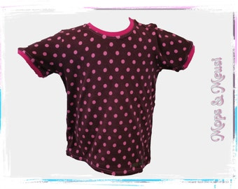 T-shirt 104 red pink points