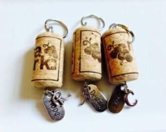 Wine Cork key-chains